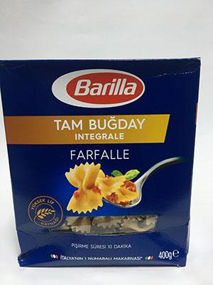 Barilla Tam Bugday Integrale Farfalle 400g